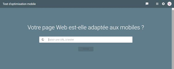 Test d'optimisation mobile de votre site internet
